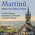 MARTINU: Works for Cello and Piano