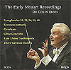 The Early Mozart Recordings: Sir Colin Davis